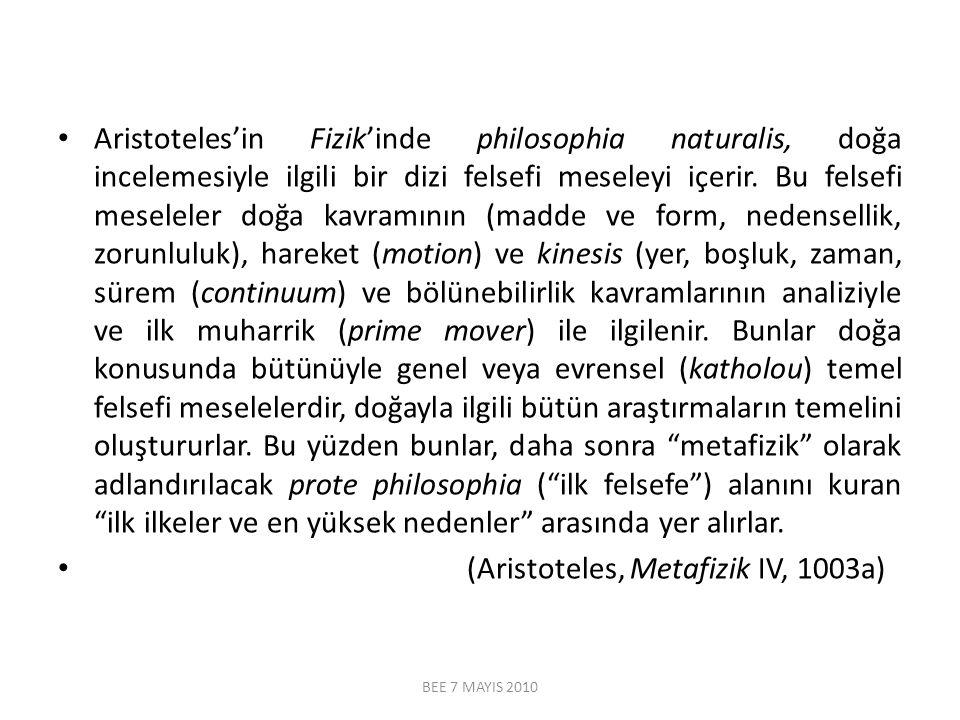 (Aristoteles, Metafizik IV, 1003a)