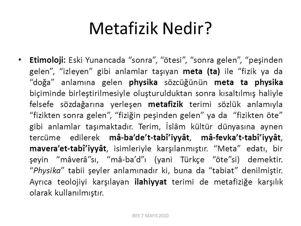 Metafizik Nedir