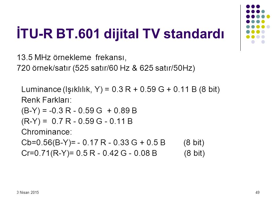 İTU-R BT.601 dijital TV standardı