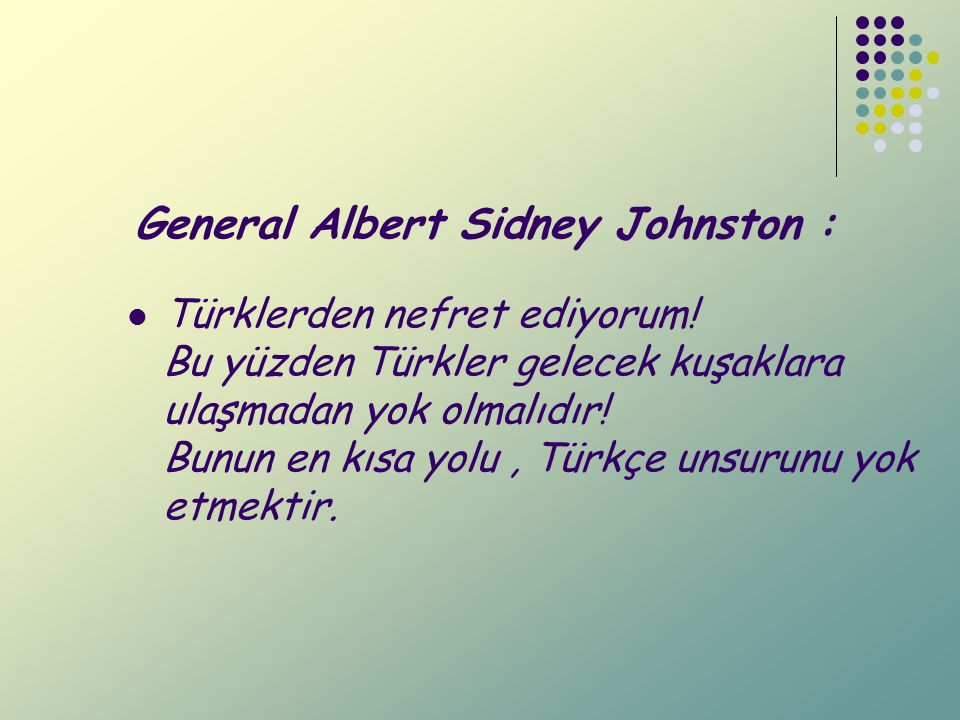 General Albert Sidney Johnston :