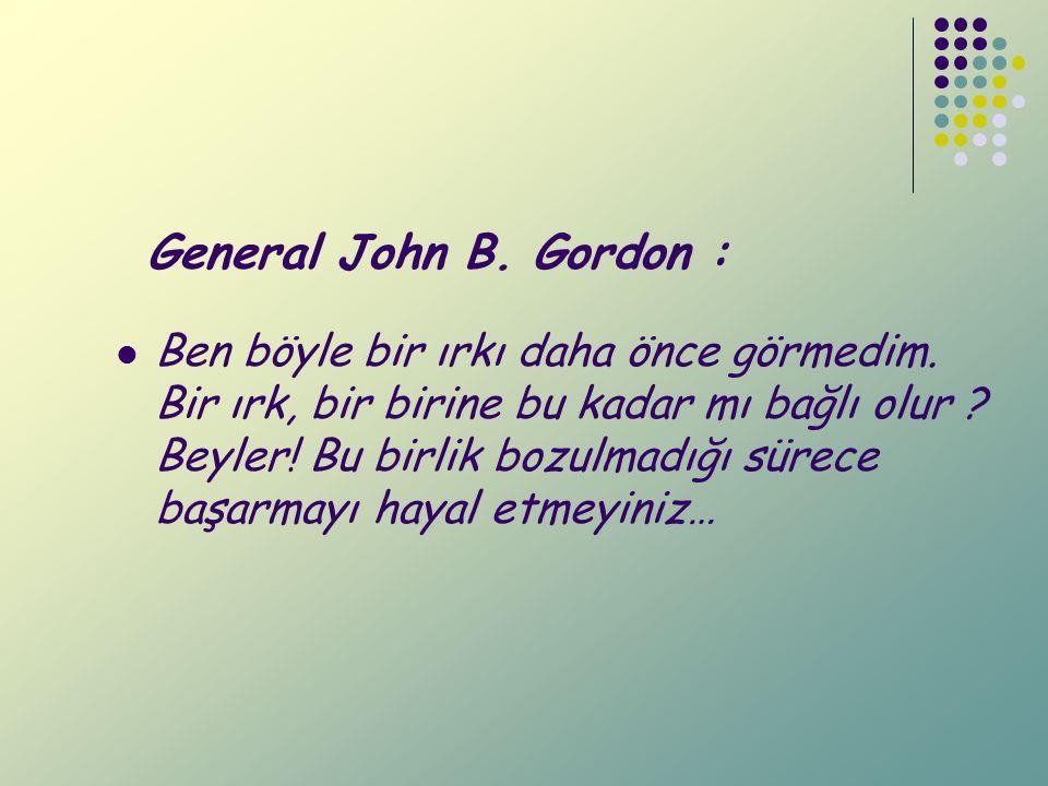 General John B. Gordon :