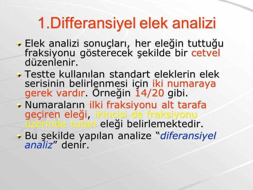 1.Differansiyel elek analizi