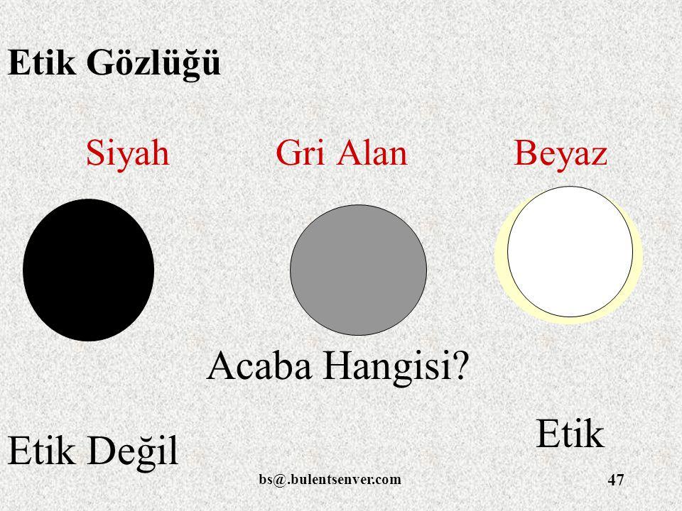 Acaba Hangisi Etik Etik Değil Etik Gözlüğü Siyah Gri Alan Beyaz
