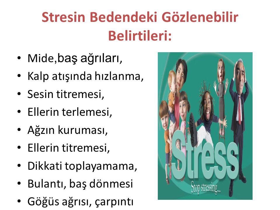 Stresin Bedendeki Gözlenebilir Belirtileri: