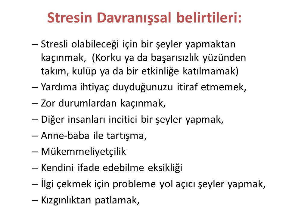 Stresin Davranışsal belirtileri: