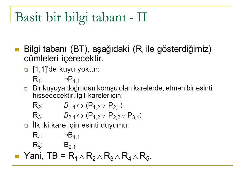 Basit bir bilgi tabanı - II