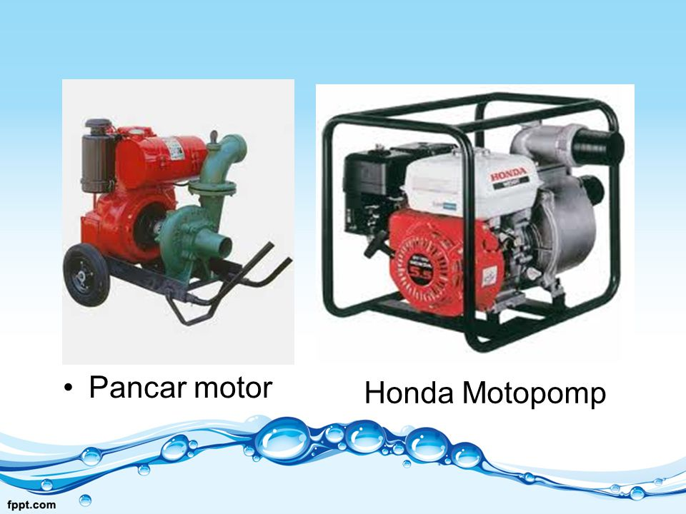 Pancar motor Honda Motopomp