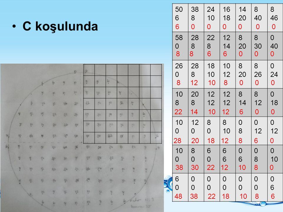 50 6. 38. 8. 24. 10. 16. 18. 14. 20. 40. 46. 58. 28. 22. 12. 30. 26. C koşulunda. 6 0 0 0 0 0 0.