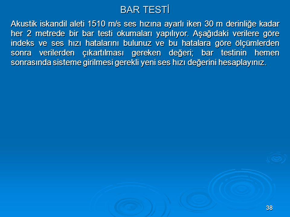 BAR TESTİ