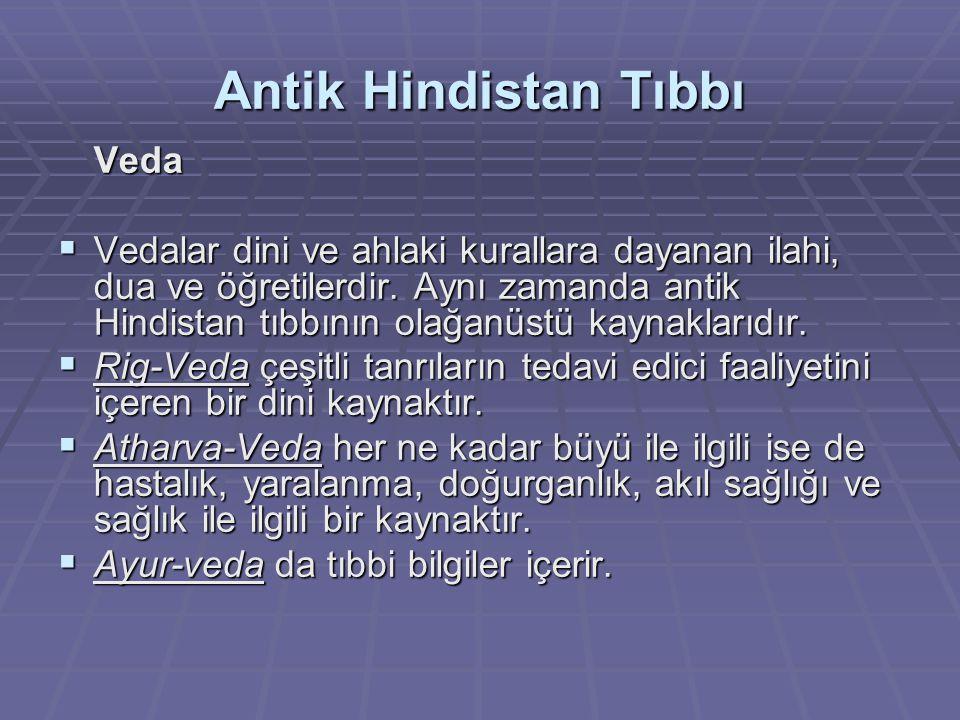 Antik Hindistan Tıbbı Veda.