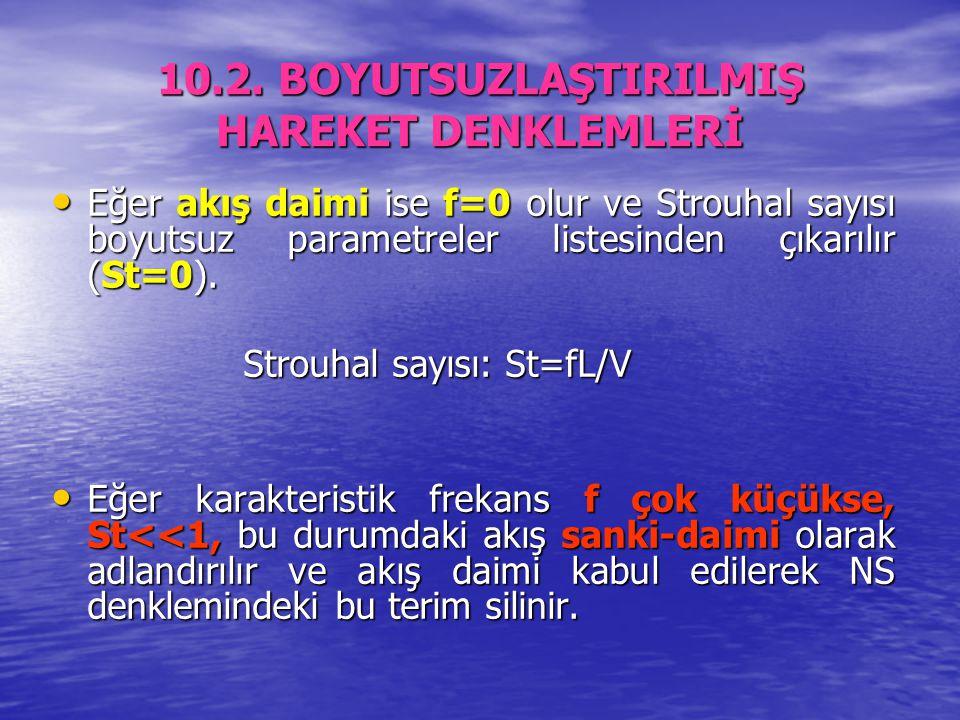 10.2. BOYUTSUZLAŞTIRILMIŞ HAREKET DENKLEMLERİ