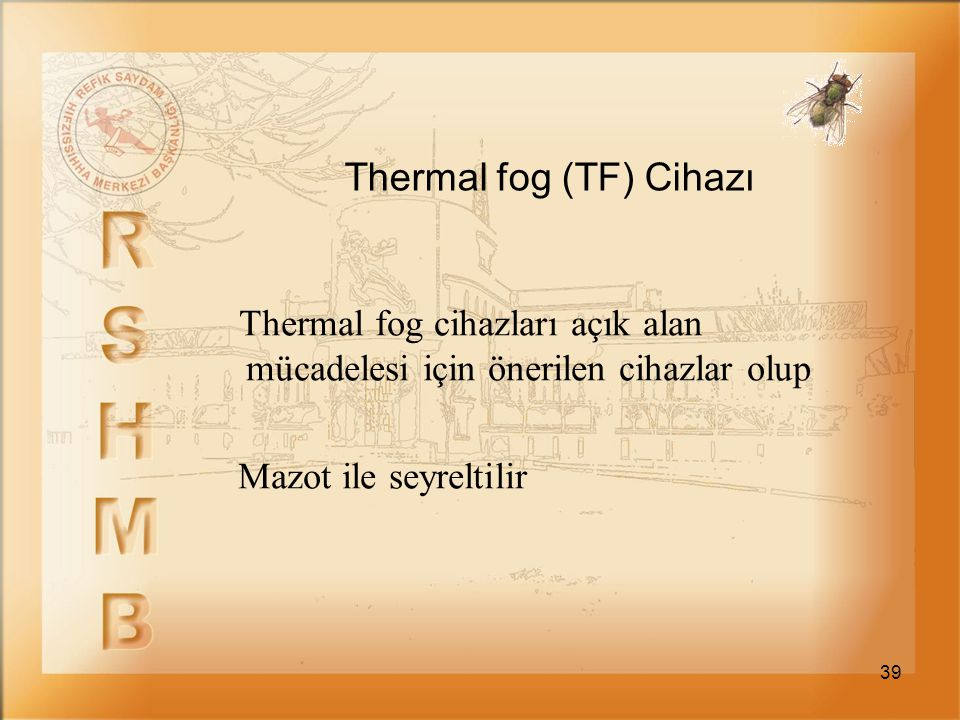 Thermal fog (TF) Cihazı