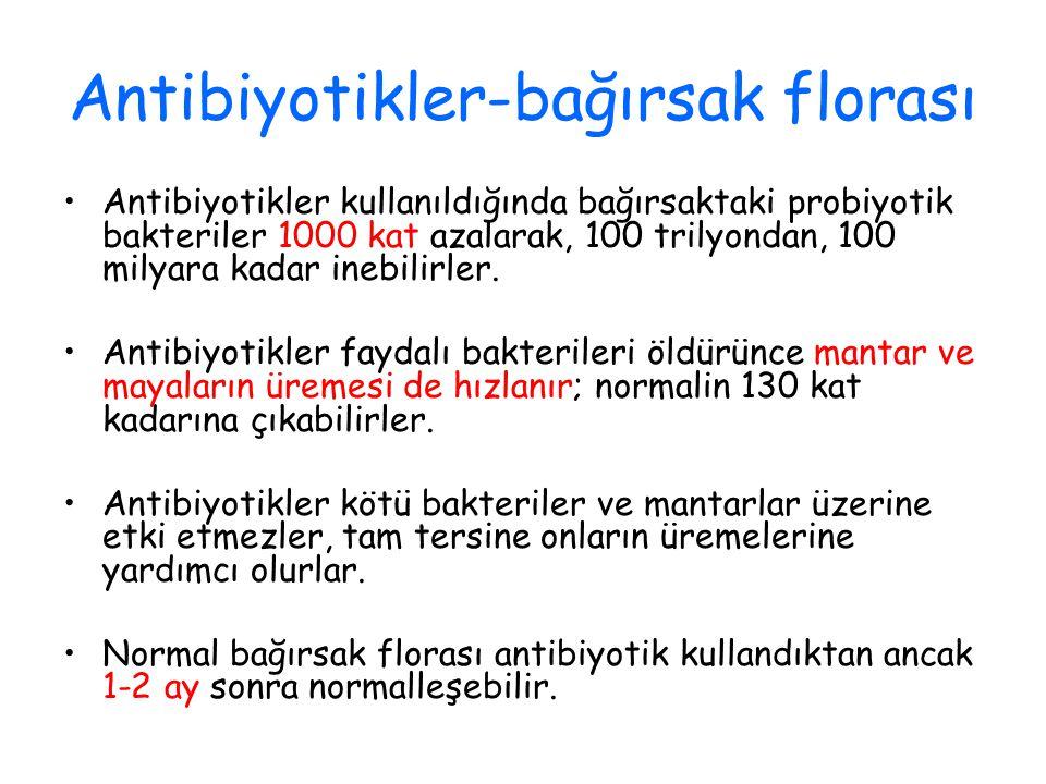 Antibiyotikler-bağırsak florası