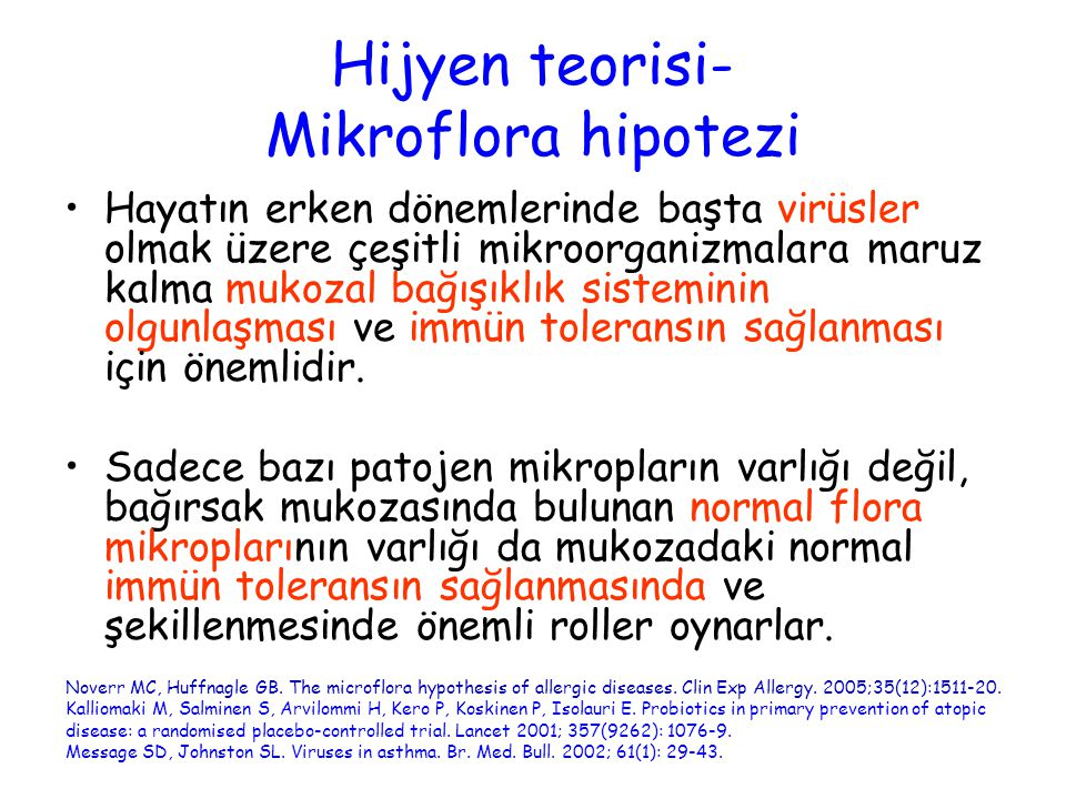Hijyen teorisi- Mikroflora hipotezi