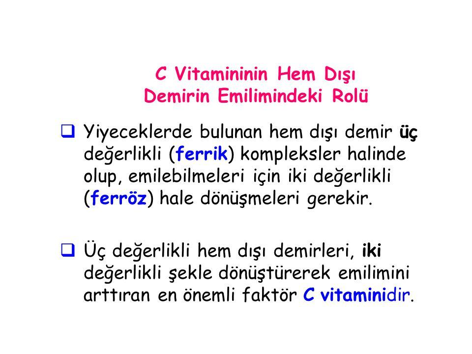 C Vitamininin Hem Dışı Demirin Emilimindeki Rolü