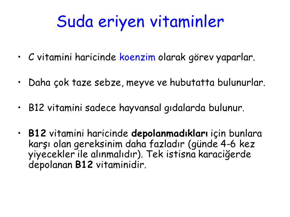 Suda eriyen vitaminler