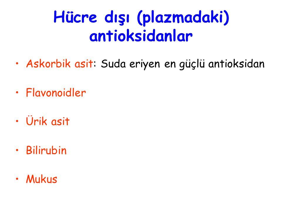 Hücre dışı (plazmadaki) antioksidanlar