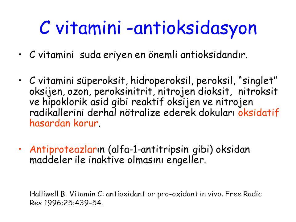 C vitamini -antioksidasyon