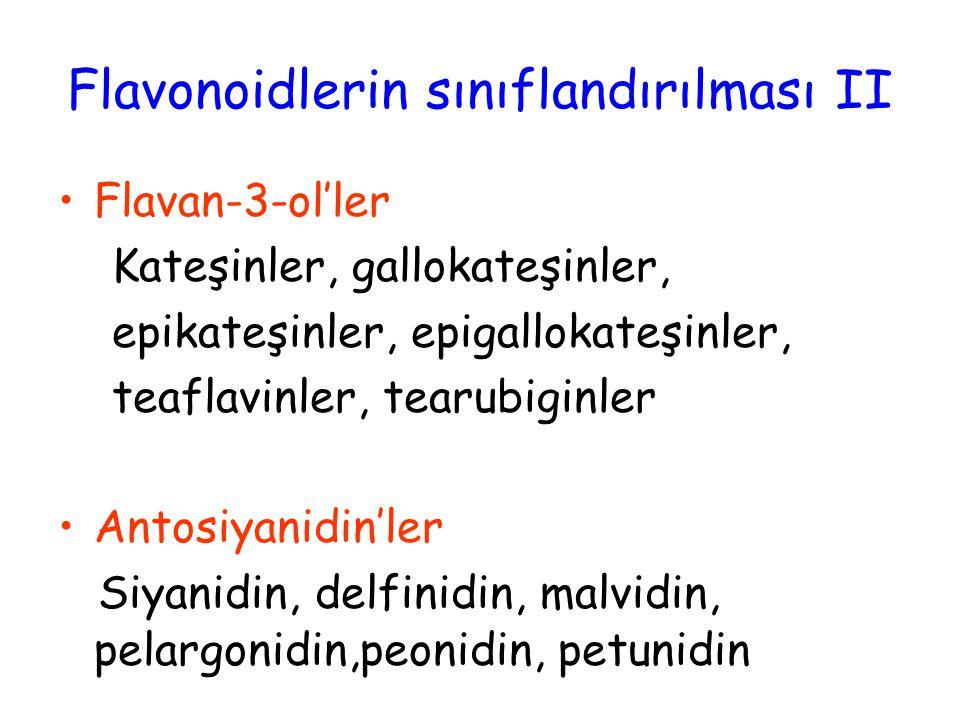 Flavonoidlerin sınıflandırılması II