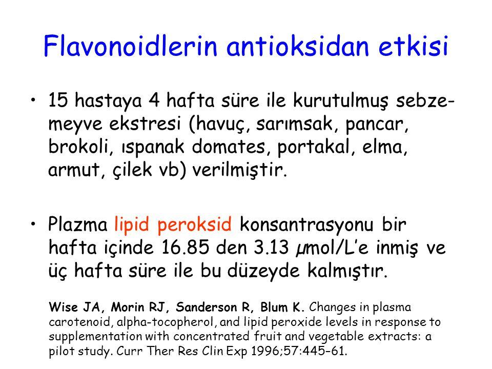 Flavonoidlerin antioksidan etkisi