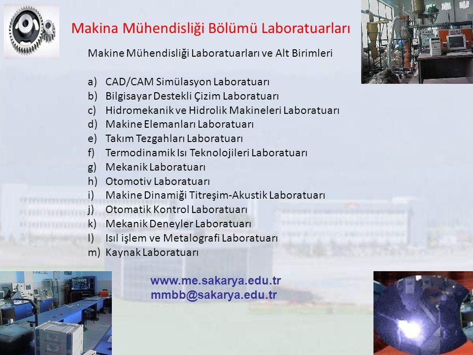 Makina Mühendisliği Bölümü Laboratuarları