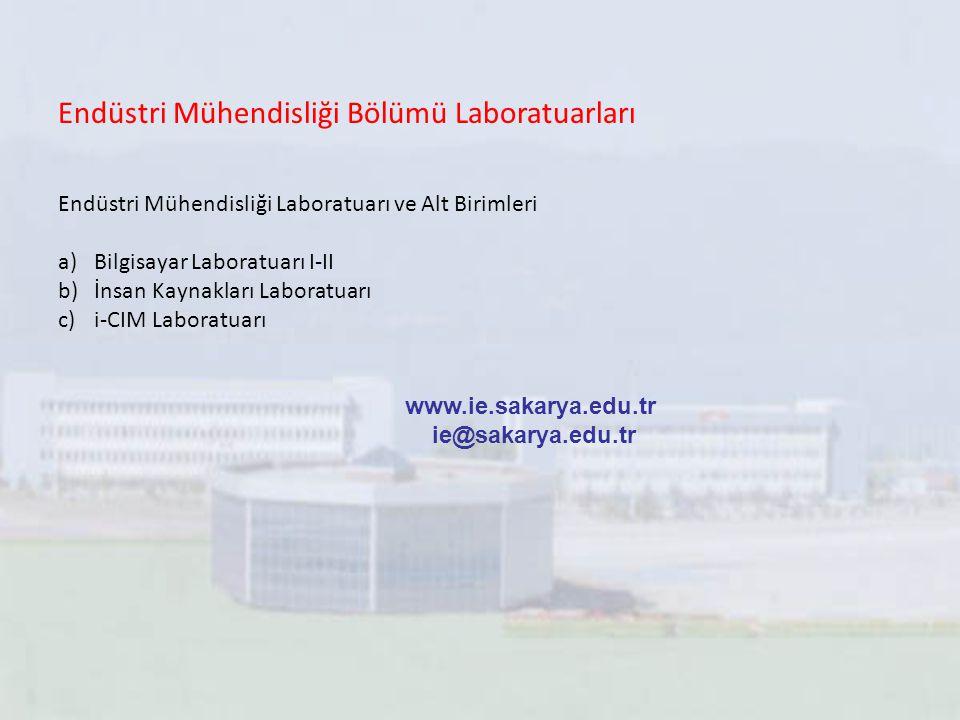 Endüstri Mühendisliği Bölümü Laboratuarları