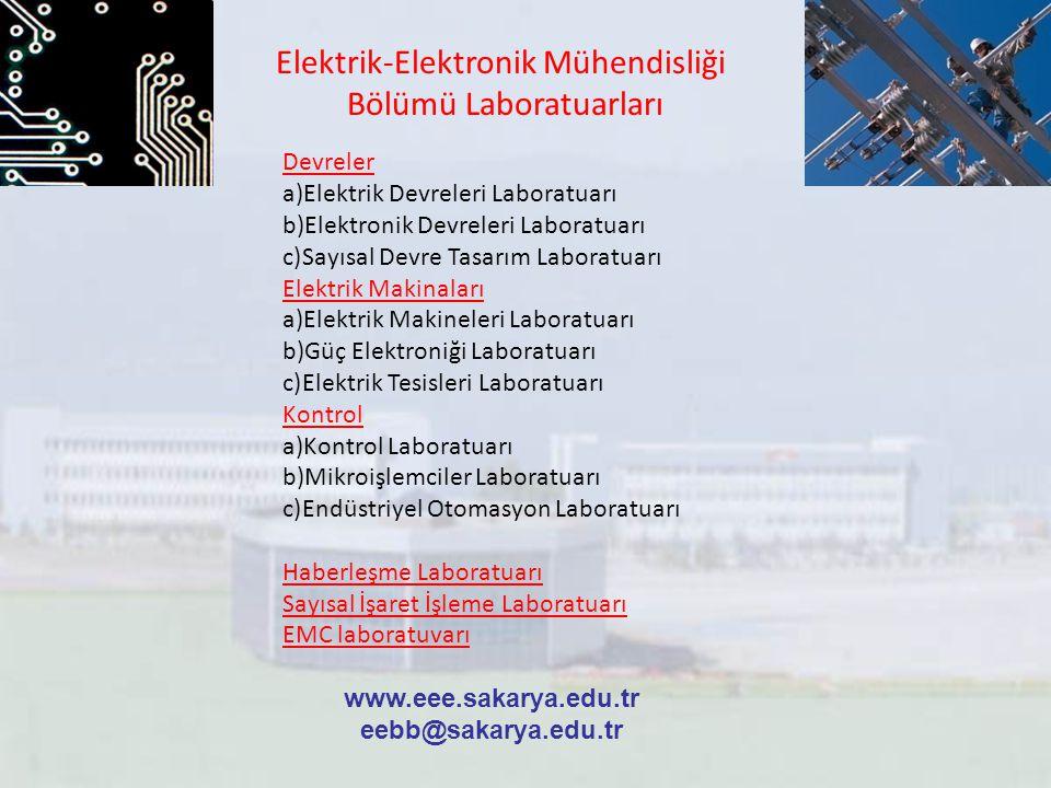 Elektrik-Elektronik Mühendisliği Bölümü Laboratuarları