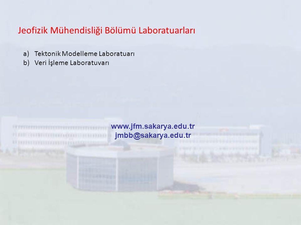 Jeofizik Mühendisliği Bölümü Laboratuarları