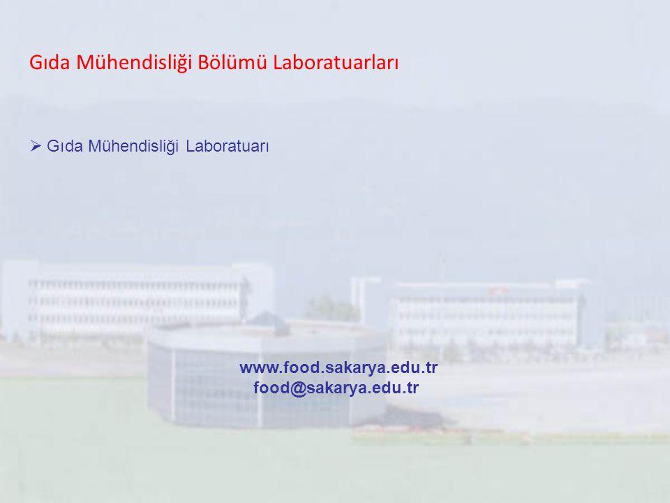 Gıda Mühendisliği Bölümü Laboratuarları