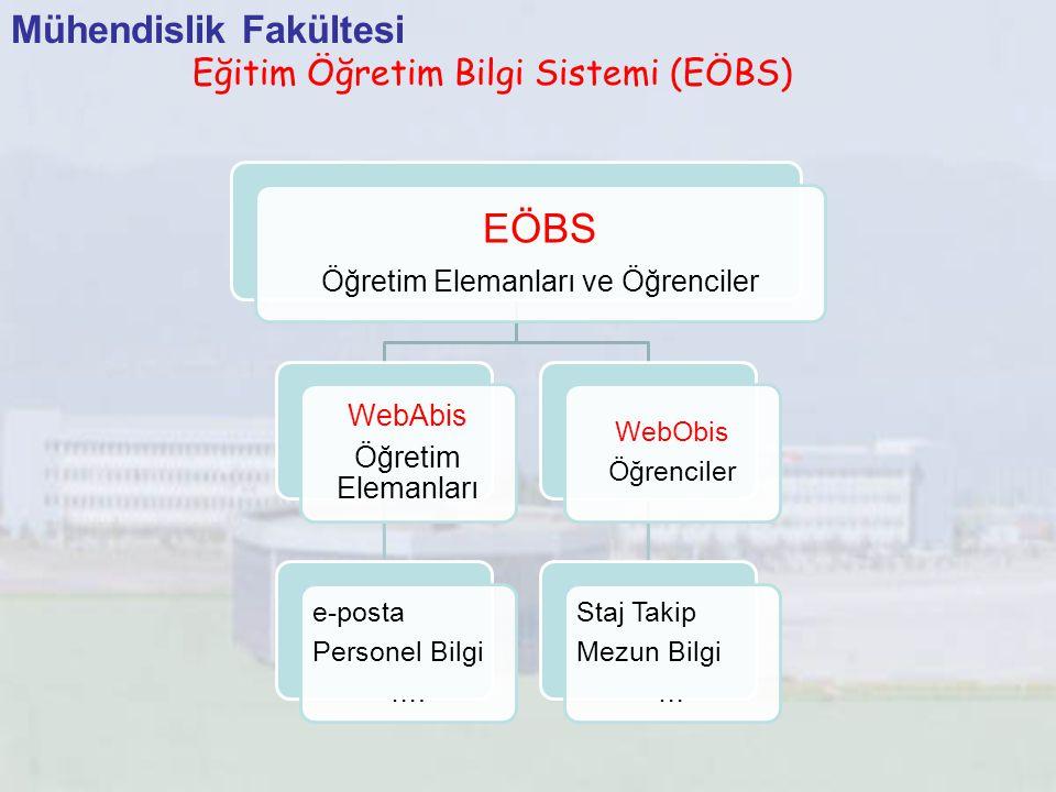 EÖBS Mühendislik Fakültesi Eğitim Öğretim Bilgi Sistemi (EÖBS) WebAbis