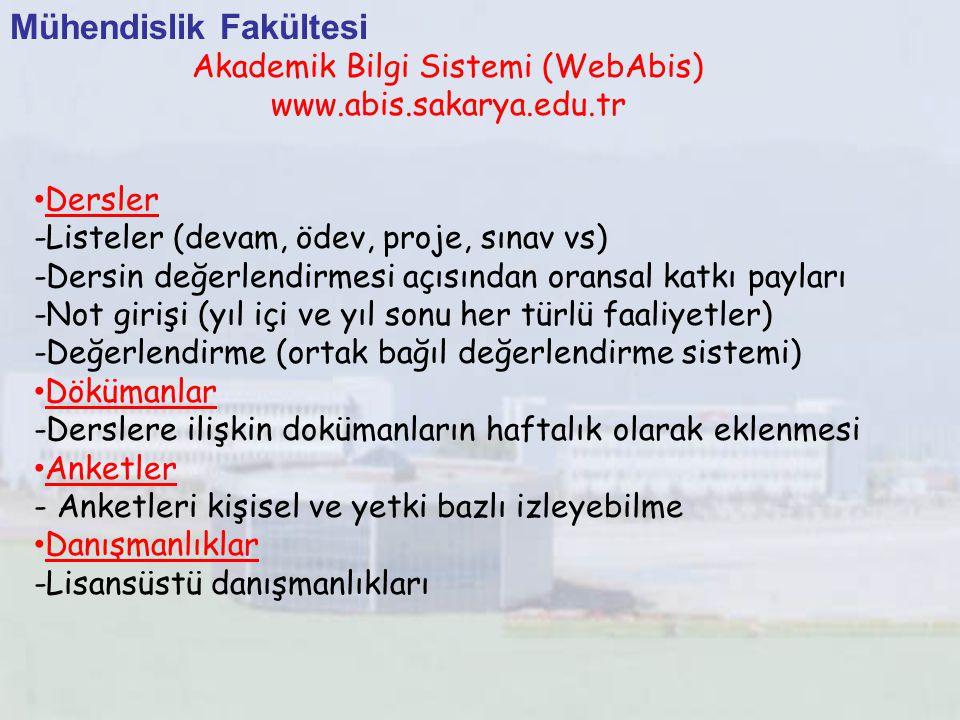 Akademik Bilgi Sistemi (WebAbis)