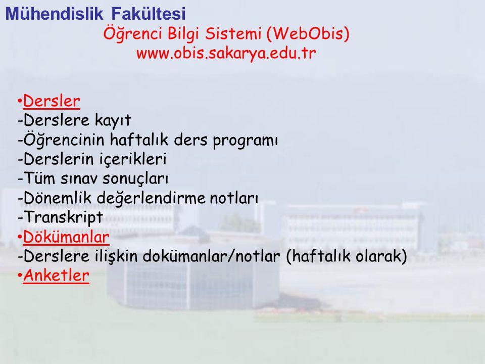Öğrenci Bilgi Sistemi (WebObis)