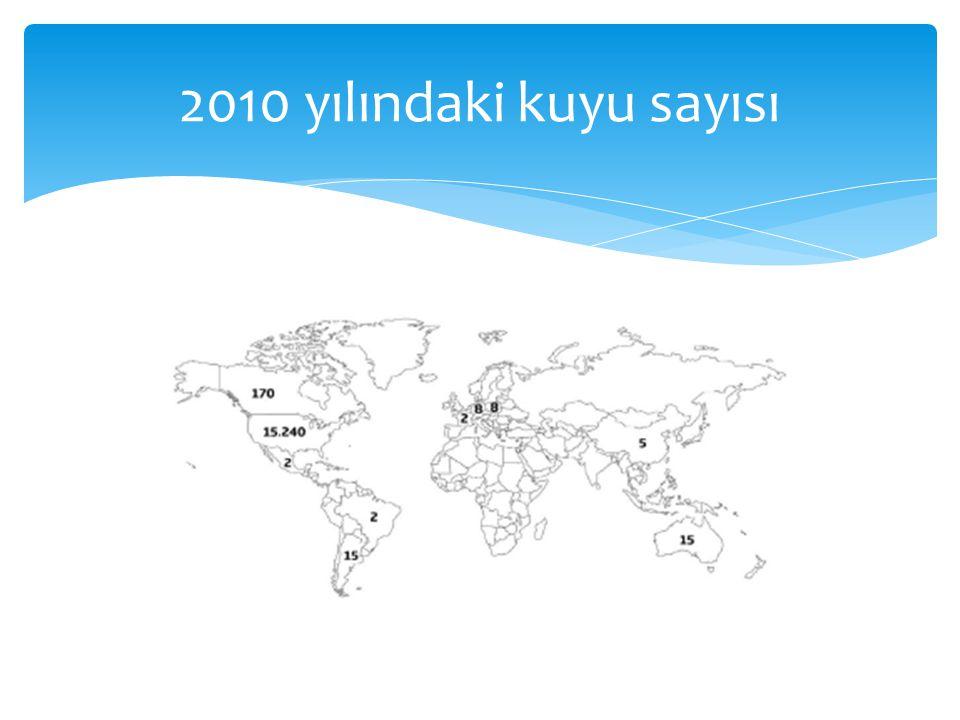 2010 yılındaki kuyu sayısı