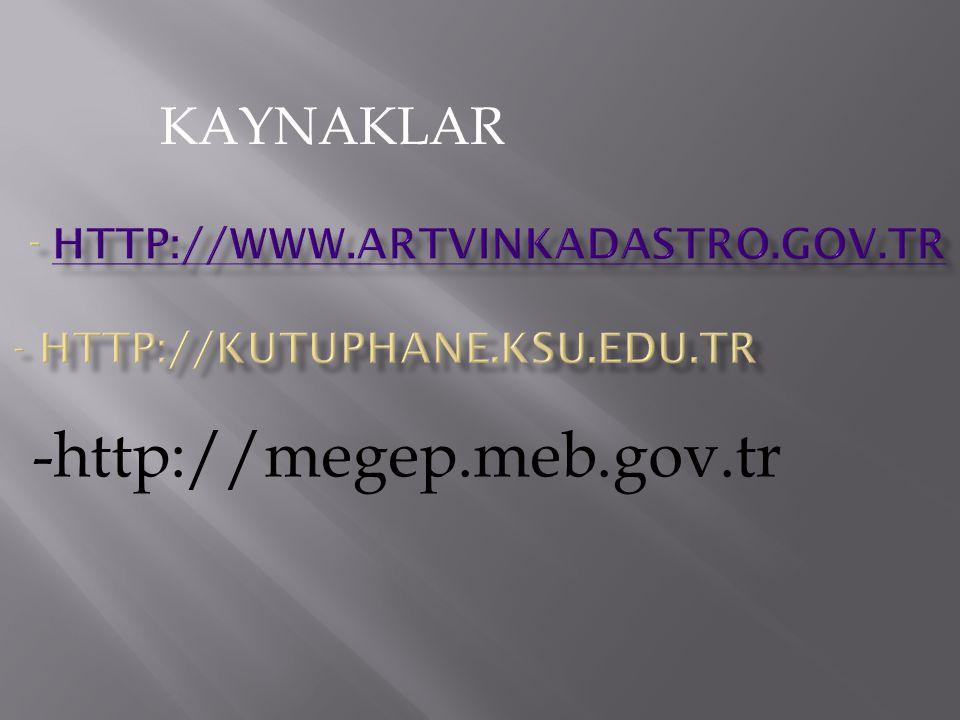 - http://www.artvinkadastro.gov.tr - http://kutuphane.ksu.edu.tr