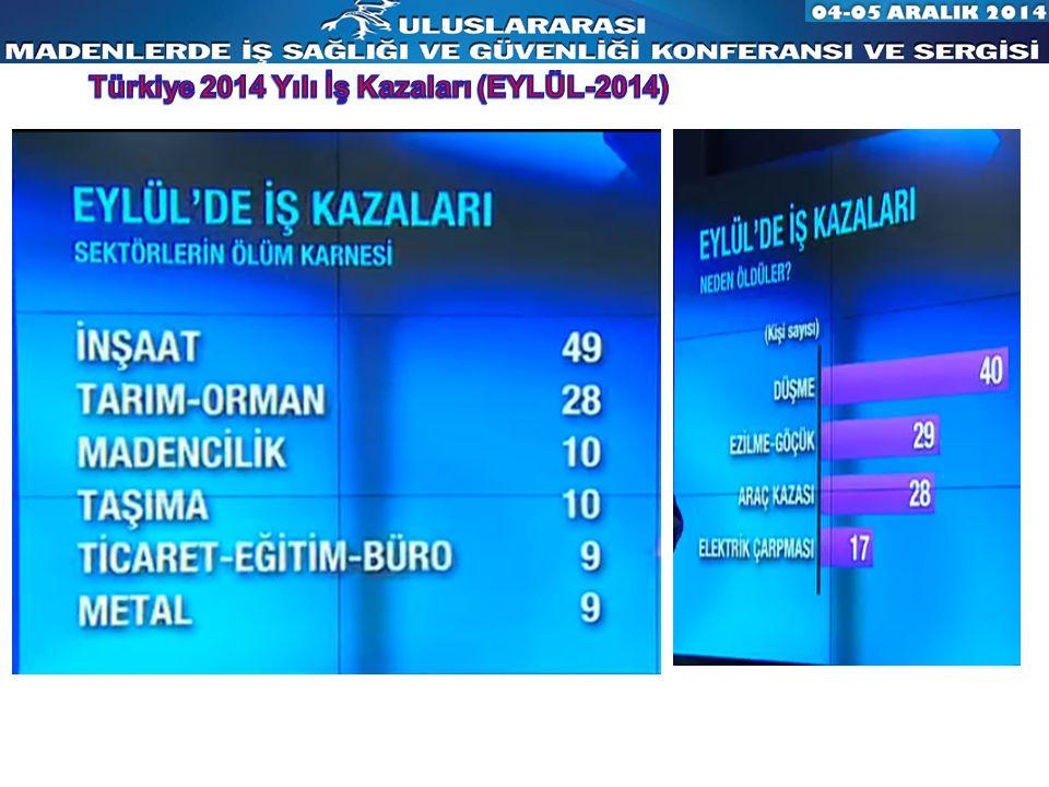 Türkiye 2014 Yılı İş Kazaları (EYLÜL-2014)
