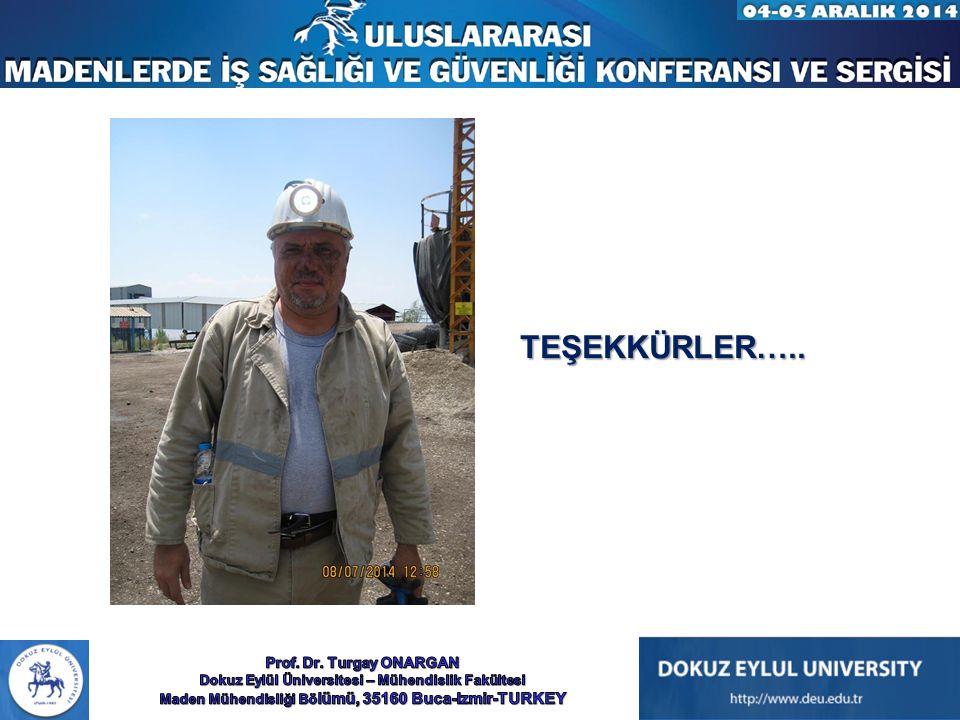 TEŞEKKÜRLER….. Prof. Dr. Turgay ONARGAN