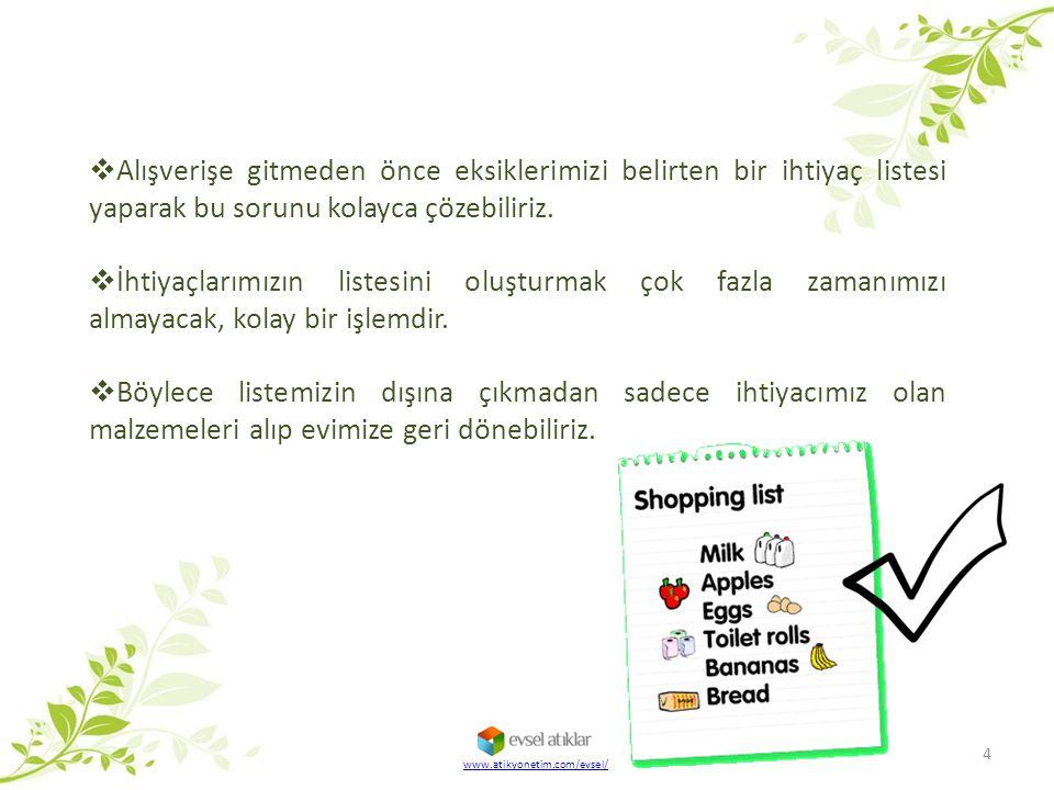 Alışverişe gitmeden önce eksiklerimizi belirten bir ihtiyaç listesi yaparak bu sorunu kolayca çözebiliriz.