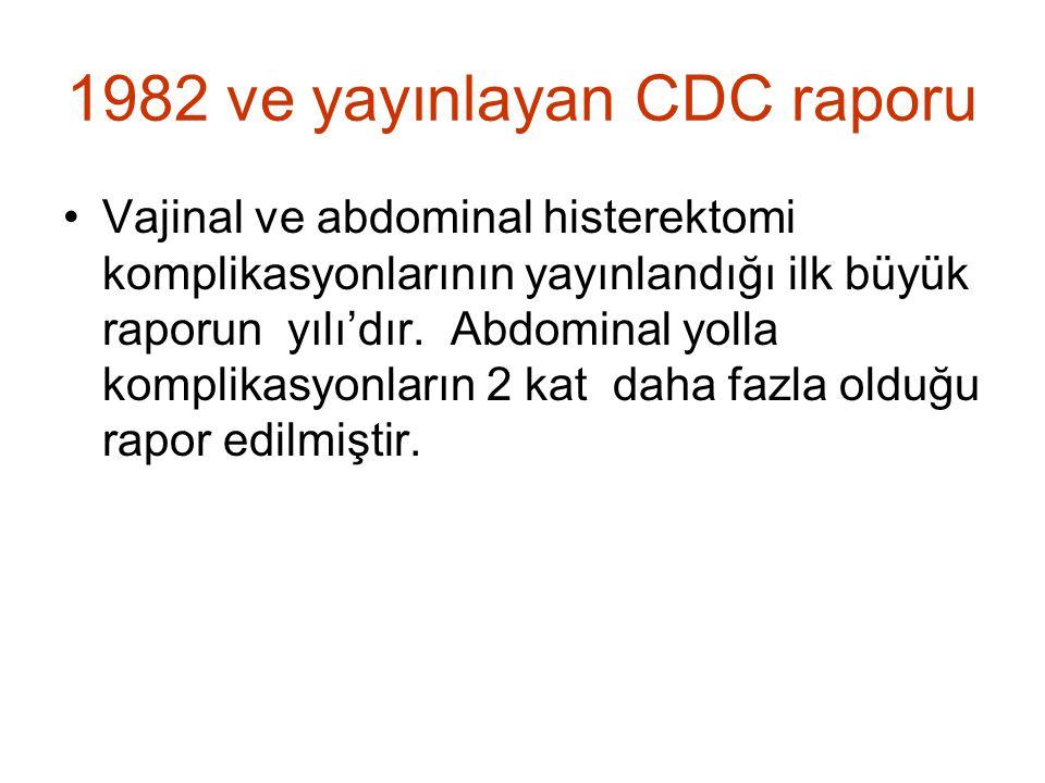 1982 ve yayınlayan CDC raporu