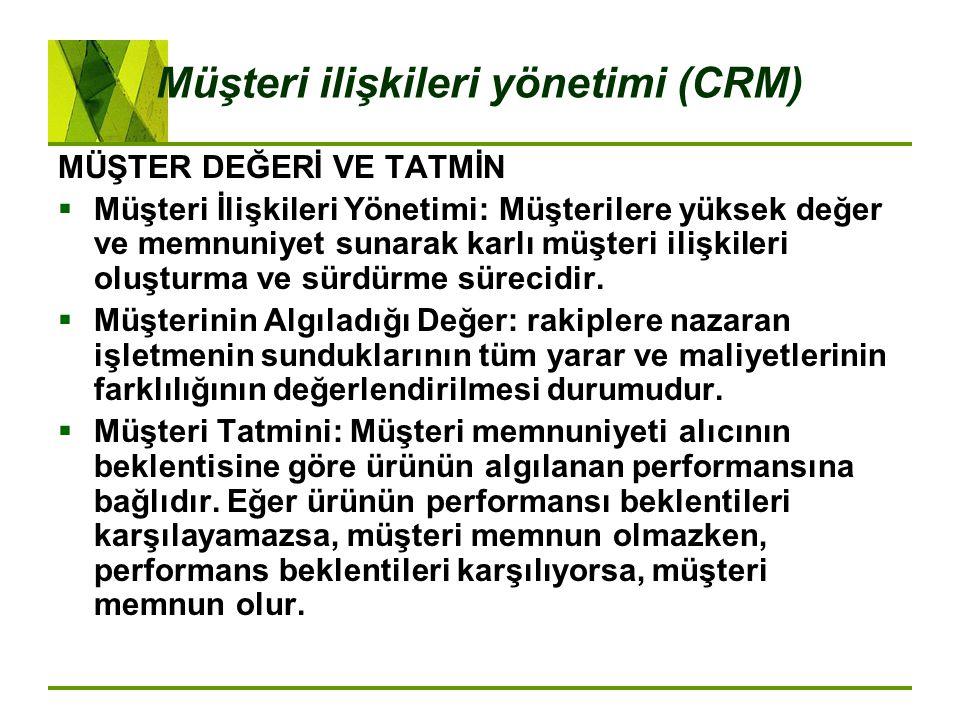 Müşteri ilişkileri yönetimi (CRM)