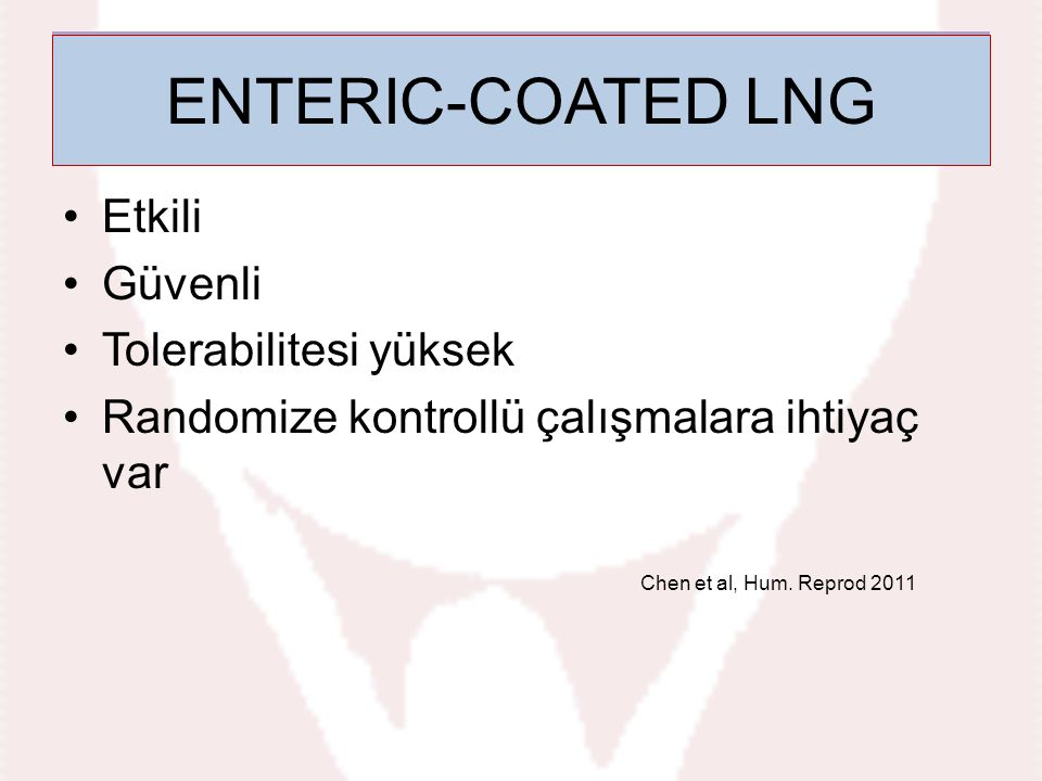 Enteric-coated LNG ENTERIC-COATED LNG Etkili Güvenli