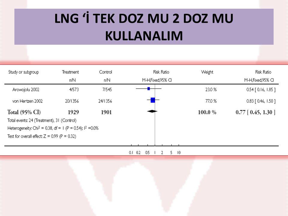 LNG 'İ TEK DOZ MU 2 DOZ MU KULLANALIM