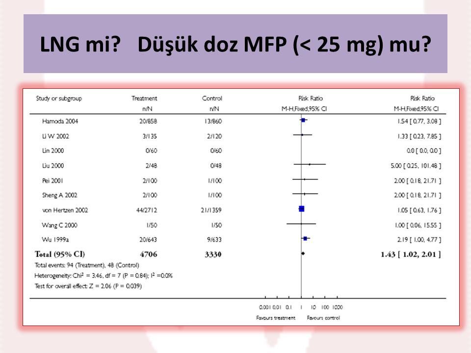 LNG mi Düşük doz MFP (< 25 mg) mu