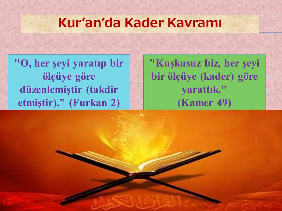 Kur'an'da Kader Kavramı