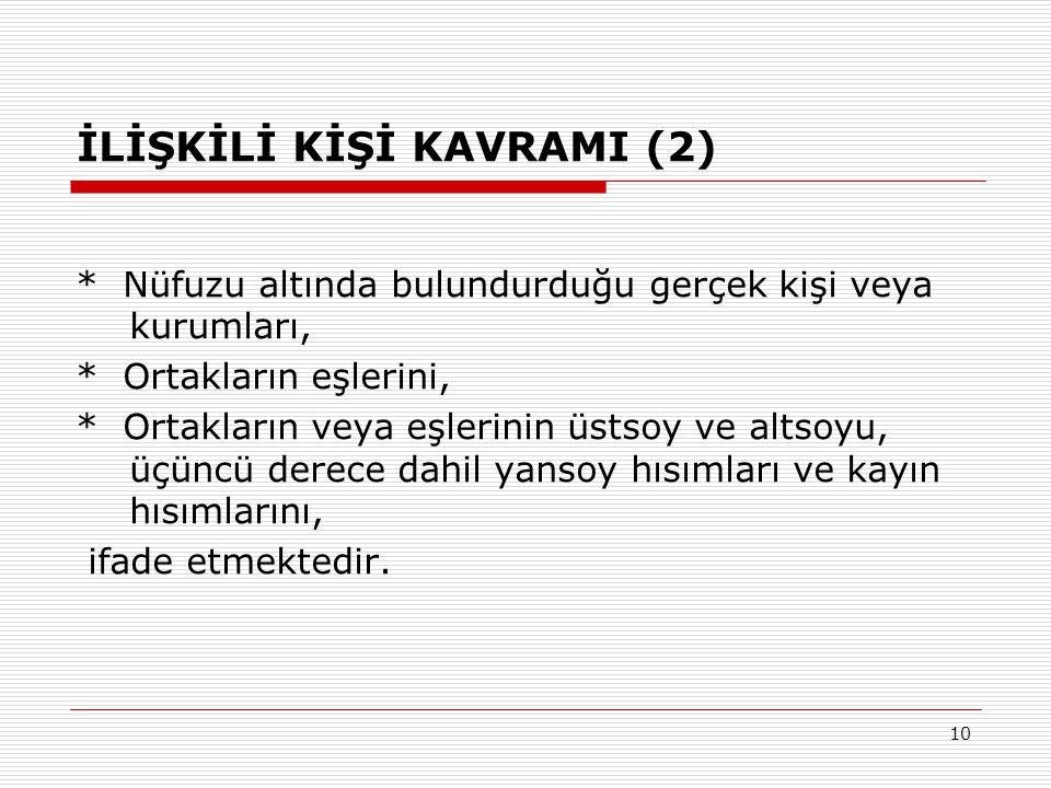 İLİŞKİLİ KİŞİ KAVRAMI (2)