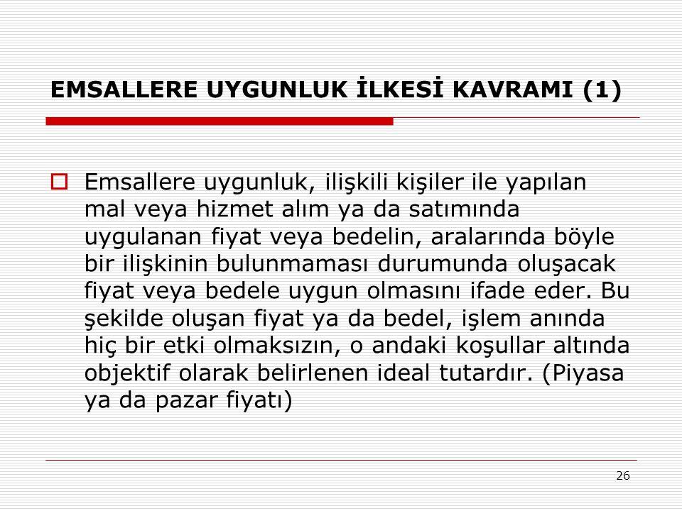 EMSALLERE UYGUNLUK İLKESİ KAVRAMI (1)