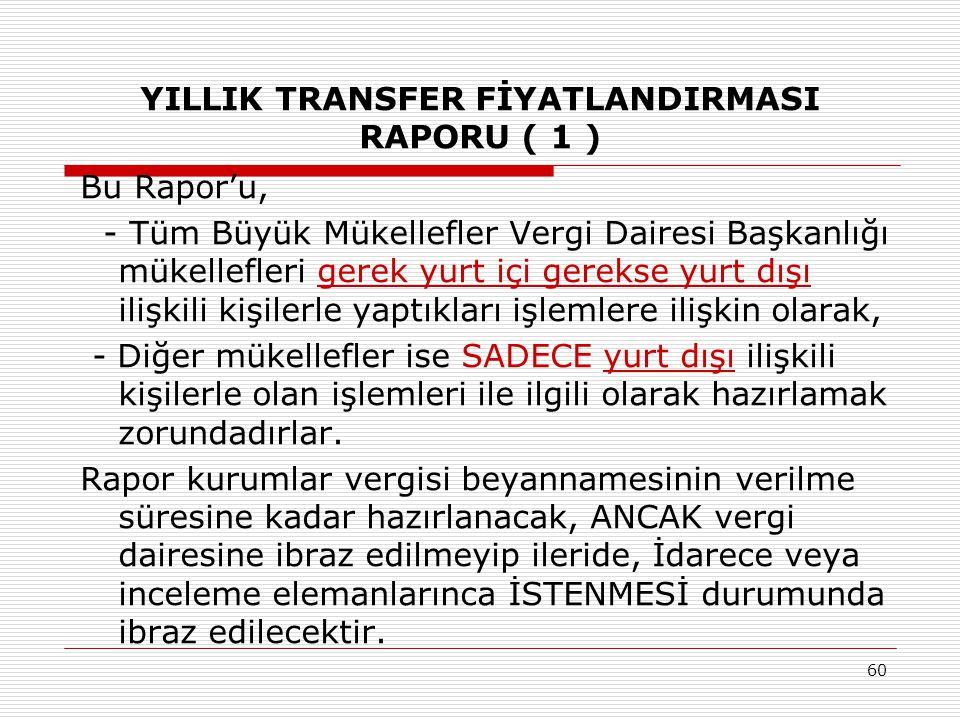YILLIK TRANSFER FİYATLANDIRMASI RAPORU ( 1 )