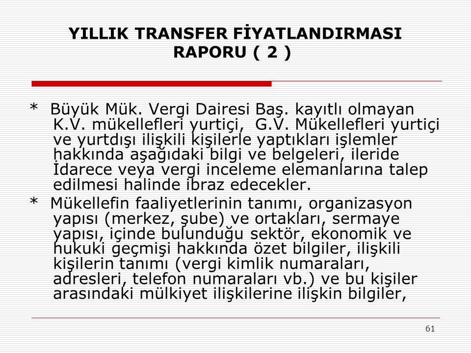 YILLIK TRANSFER FİYATLANDIRMASI RAPORU ( 2 )