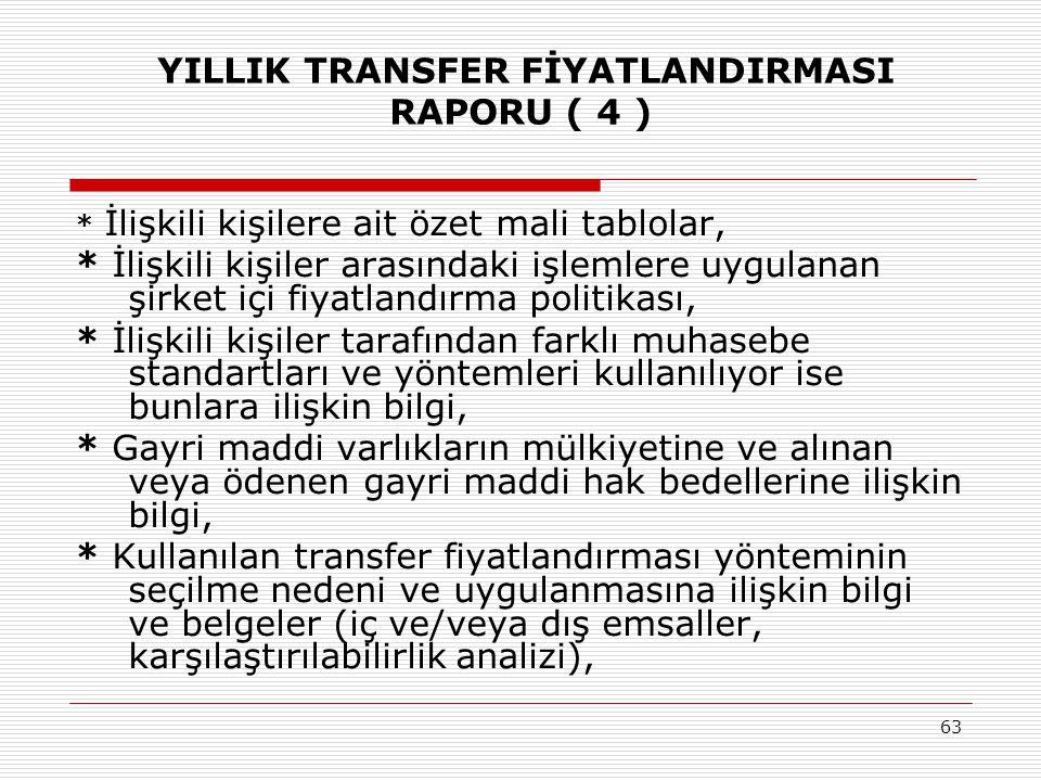 YILLIK TRANSFER FİYATLANDIRMASI RAPORU ( 4 )