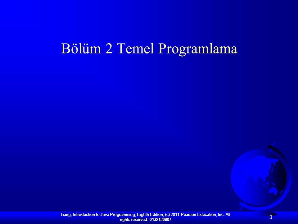 Bölüm 2 Temel Programlama