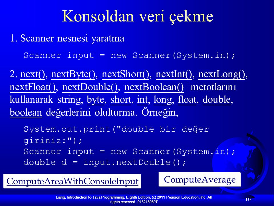 ComputeAreaWithConsoleInput
